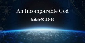 121223 An Incomparable God