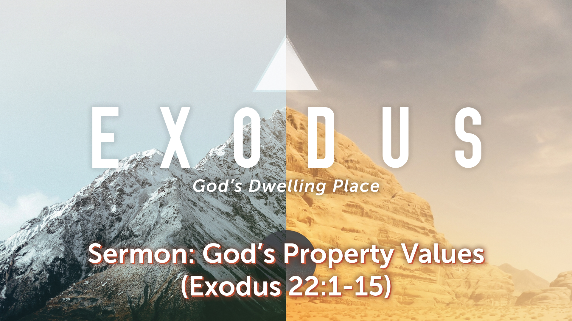 Image for the sermon God's Property Values