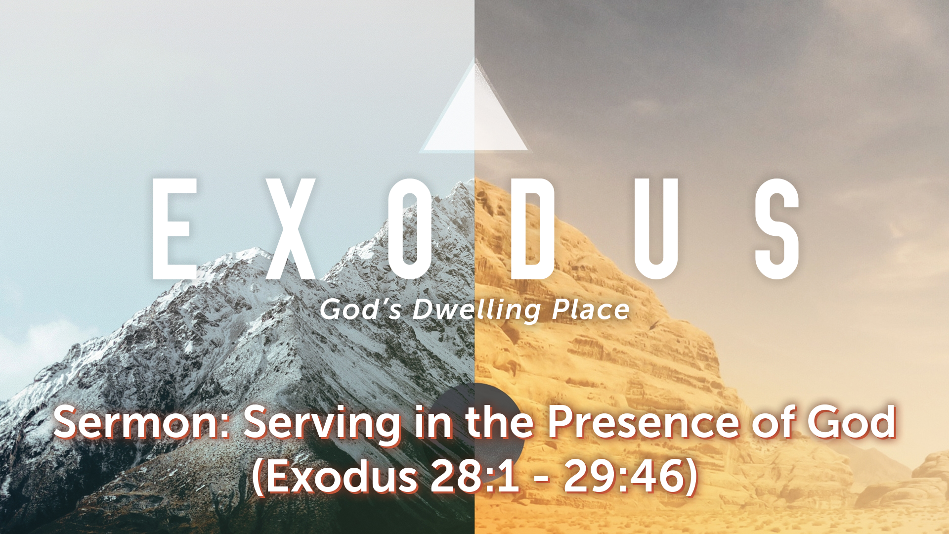Image for the sermon Serving in the Presence of God
