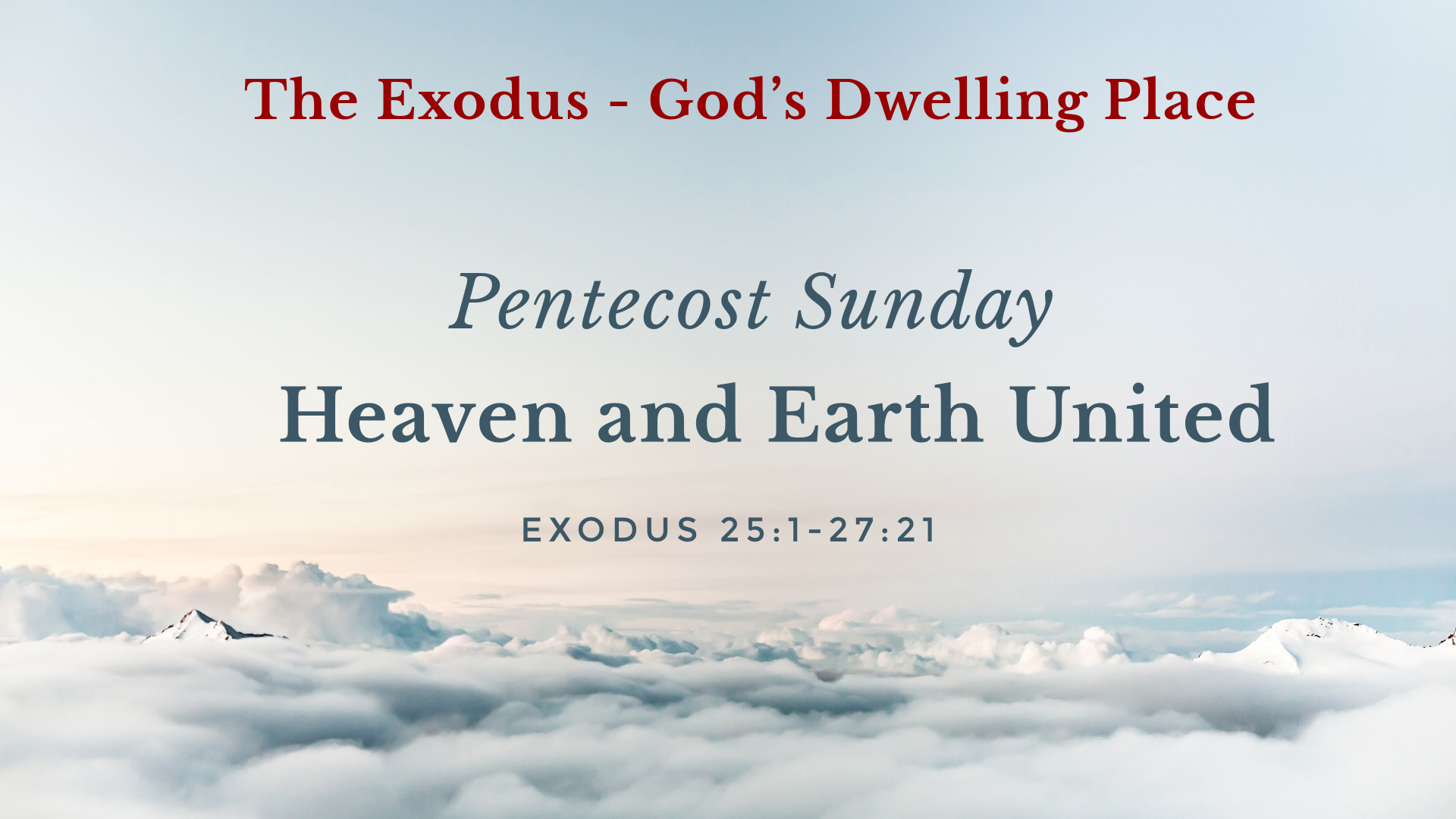 Image for the sermon Heaven and Earth United