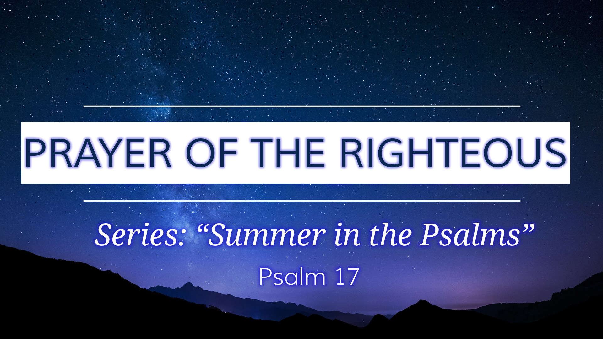 Image for the sermon Prayer of the Righteous