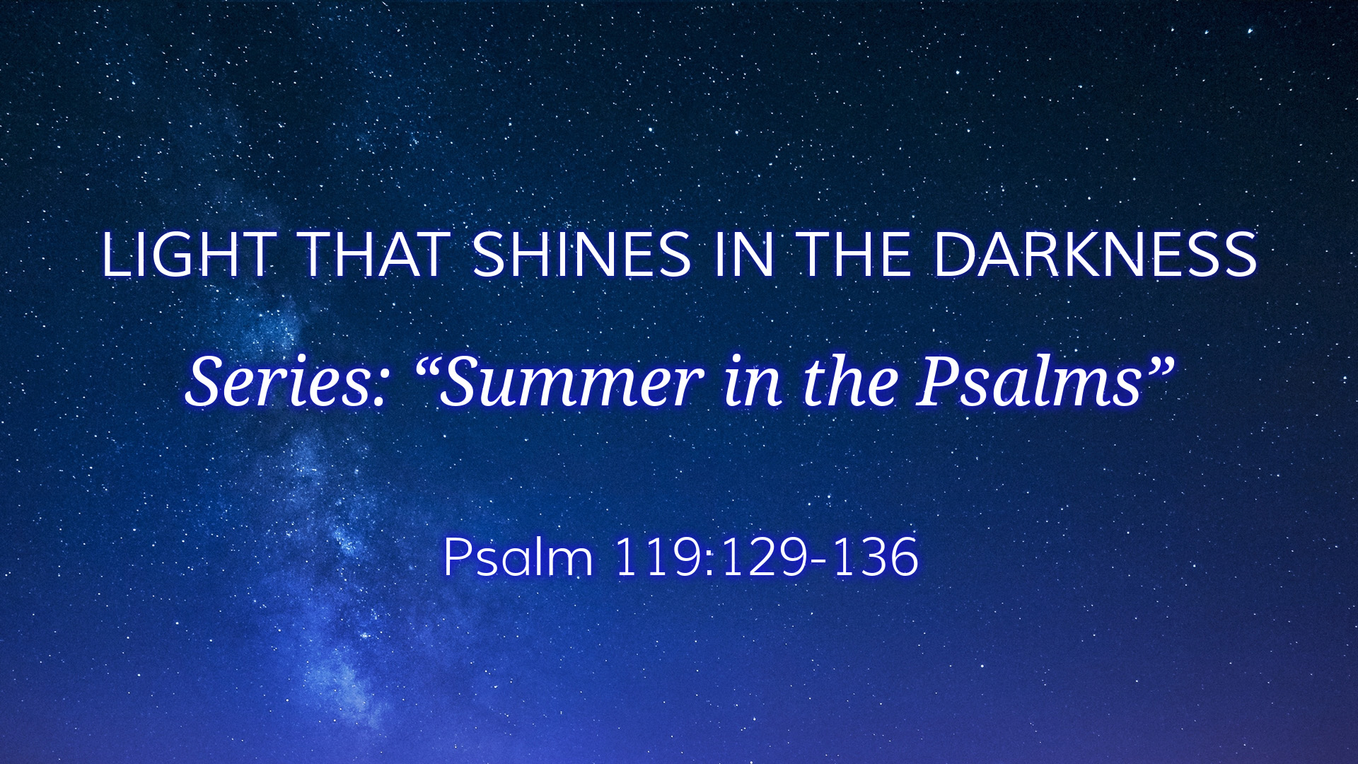 Image for the sermon Light that Shines in the Darkness