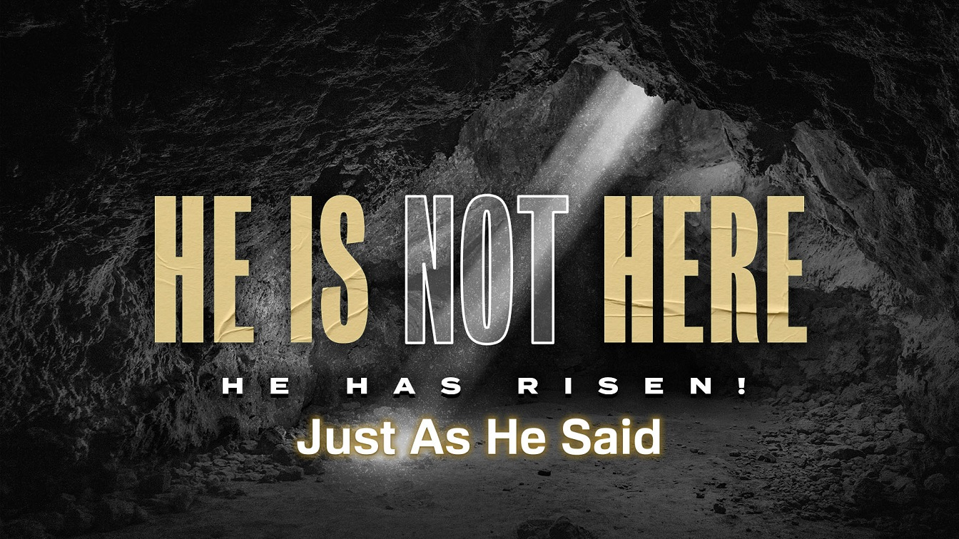 Image for the sermon He is Not Here; He Has Risen, Just As He Said