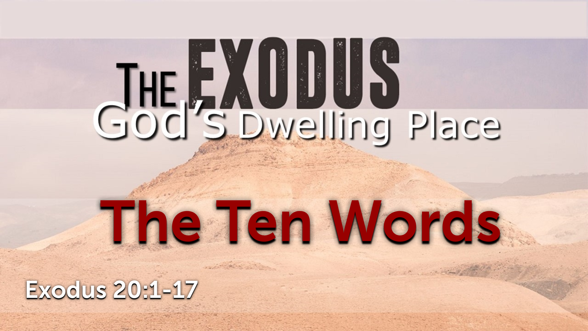 Image for the sermon The Ten Words