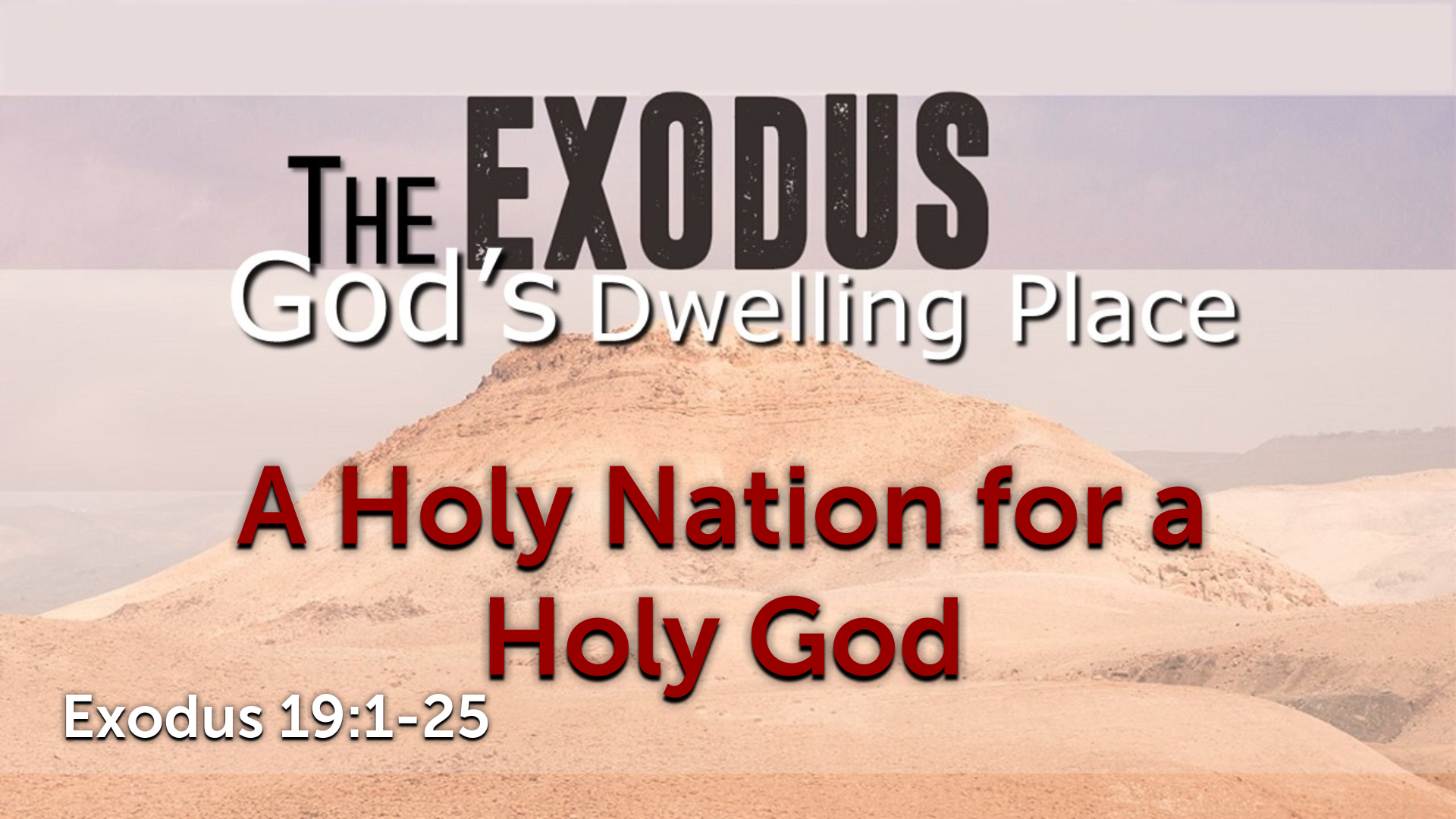 Image for the sermon A Holy Nation for a Holy God