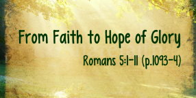 From Faith to Hope of Glory