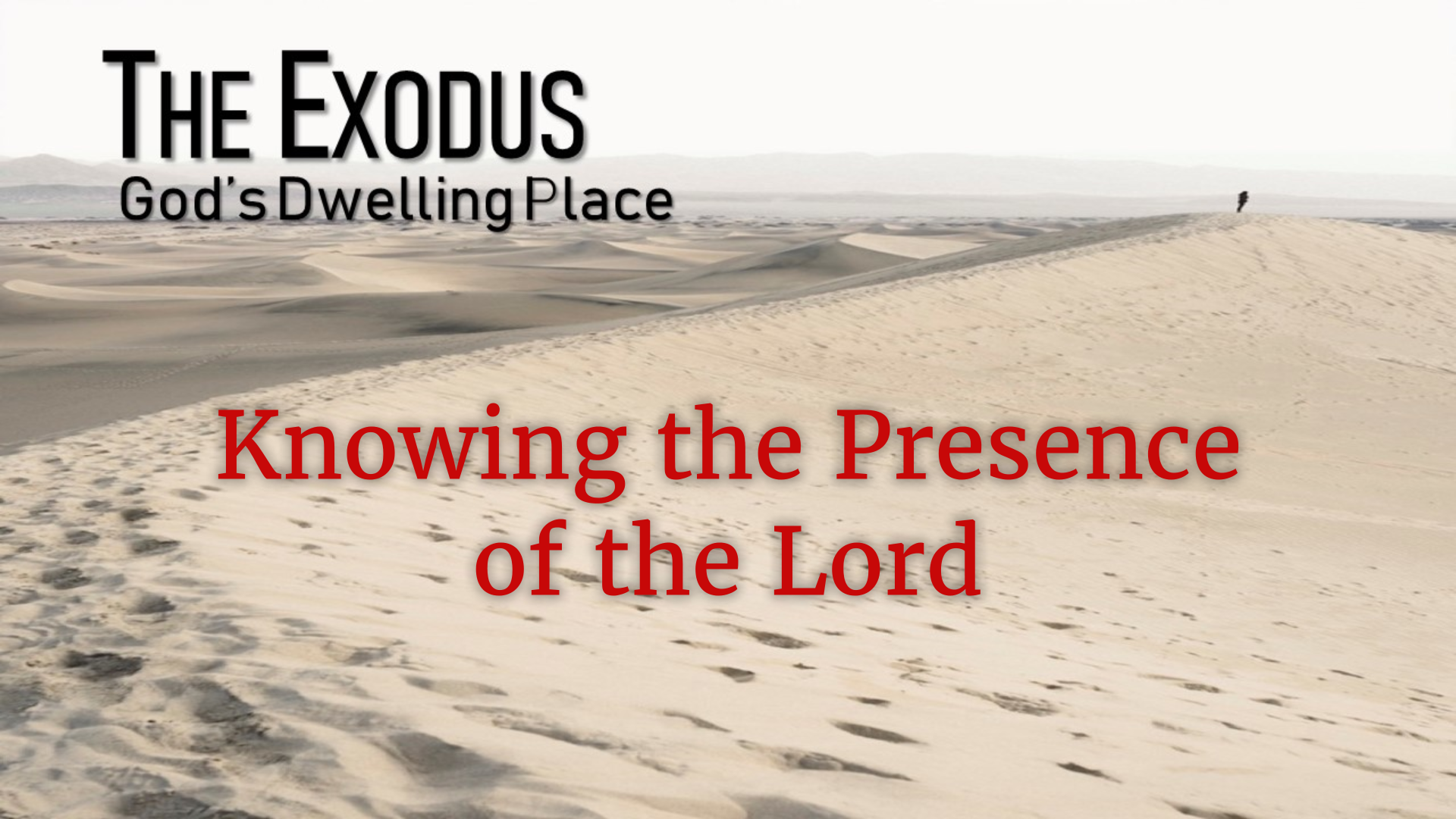 Image for the sermon Knowing the Presence of The Lord